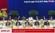 52 đồng chí được bầu vào Ban Chấp hành Đảng bộ tỉnh Long An nhiệm kỳ 2020-2025