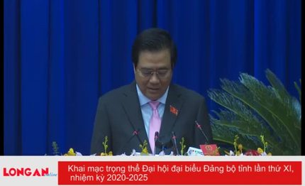 Khai mạc trọng thể Đại hội đại biểu Đảng bộ tỉnh lần thứ XI, nhiệm kỳ 2020-2025