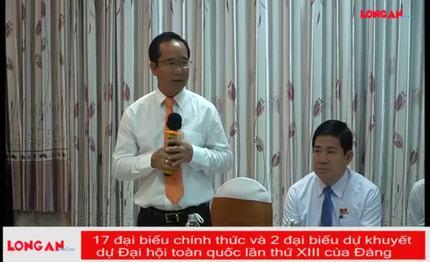 17 đại biểu chính thức và 2 đại biểu dự khuyết dự Đại hội toàn quốc lần thứ XIII của Đảng