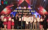 Lễ trao Giải báo chí Quốc gia lần thứ 9 năm 2014