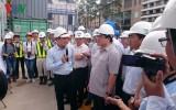 Phó Thủ tướng Hoàng Trung Hải thị sát tuyến metro Bến Thành- Suối Tiên