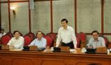 Bộ Chính trị làm việc với Ban Thường vụ Tỉnh ủy Long An về công tác chuẩn bị Đại hội Đảng bộ tỉnh lần thứ X