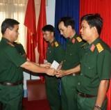 Bộ Chỉ huy Quân sự tỉnh Long An: 7 đồng chí được thăng quân hàm trung tá