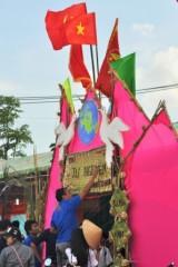 """Long An: Hội trại Thanh thiếu nhi năm 2015 - """"Tuổi trẻ Bến Lức tự hào tiến bước dưới cờ Đảng"""""""