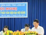 Long An: Công đoàn viên chức tỉnh góp ý dự thảo văn kiện đại hội Đảng