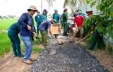 Long An: Quân - Dân chung sức xây dựng nông thôn mới