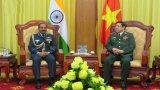 Bộ trưởng Quốc phòng Phùng Quang Thanh tiếp Đại tướng Ấn Độ