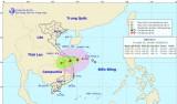19g tối 14-9, bão vào Quảng Nam - Quảng Ngãi, gió giật cấp 9-10