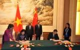 PTT Nguyễn Xuân Phúc hội đàm với PTT Trung Quốc Trương Cao Lệ