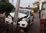 Đồng Nai: Xe đặc chủng CSGT lao vào cột điện khi đuổi 2 nghi can trộm chó
