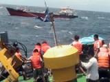 Cứu được 10 thuyền viên tàu chở hàng bị chìm ở khu vực đảo Cồn Cỏ