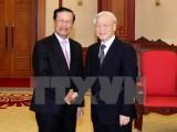 Lãnh đạo Đảng và Nhà nước tiếp Đoàn đại biểu cấp cao Lào