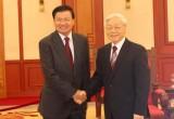 Tổng Bí thư tiếp Phó Thủ tướng, Bộ trưởng Ngoại giao Lào