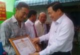 Bí thư Tỉnh ủy Long An - Phạm Văn Rạnh dự ngày hội đại đoàn kết toàn dân tộc ở Đức Hòa