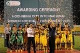 Đội chủ nhà vô địch giải bóng đá nữ quốc tế TPHCM