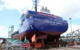 Hạ thủy tàu công trình TSHD 2000 do Việt Nam đóng xuất khẩu sang Nga