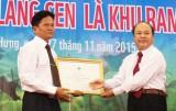Khu bảo tồn Đất ngập nước Láng Sen đón nhận bằng công nhận Khu Ramsar thứ 2227 của thế giới