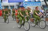 Công an tỉnh Tiền Giang tiếp nhận 100 xe đạp tuần tra