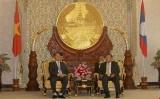 Thường trực Ban Bí thư Lê Hồng Anh hội kiến Phó Chủ tịch nước Lào