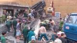 Sập giàn giáo, 16 công nhân bị vùi lấp