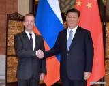 Chủ tịch Trung Quốc Tập Cận Bình gặp Thủ tướng Nga Medvedev