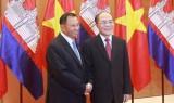 Chủ tịch Quốc hội hội đàm với Chủ tịch Thượng viện Campuchia