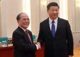 Chủ tịch Quốc hội Nguyễn Sinh Hùng hội kiến ông Tập Cận Bình