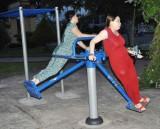 Dạo Công viên 30-4 thị xã Kiến Tường