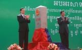 Thủ tướng Việt Nam và Camphuchia dự Lễ khánh thành cột mốc biên giới