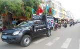 Thạnh Hóa: Ra quân năm an toàn giao thông 2016