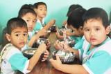 Công an tỉnh Long An vận động xây nhà ăn Trường Mẫu giáo Mỹ Thạnh