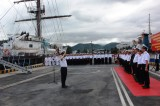 Tàu buồm đầu tiên của Hải quân Việt Nam vượt bão về nước