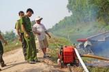Kiểm lâm Long An: Tăng cường phương tiện chữa cháy cho khu Ramsar