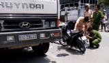 Cảnh sát hình sự bị xe ben tông tử vong
