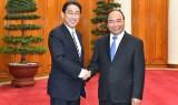 Thủ tướng Nguyễn Xuân Phúc tiếp Bộ trưởng Bộ Ngoại giao Nhật Bản