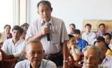 Ứng cử viên ĐBQH tiếp xúc cử tri huyện Châu Thành: Nóng về biến đổi khí hậu và tham nhũng