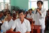 Ứng cử viên đại biểu HĐND tỉnh Long An tiếp xúc cử tri Bến Lức, Thủ Thừa