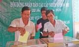 Cử tri ở khu vực biên giới tỉnh Long An nô nức đi bầu cử