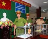 Cử tri Công an tỉnh Long An hoàn thành sớm bầu cử ĐB Quốc hội và HĐND các cấp