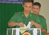 Long An: Lực lượng vũ trang nòng cốt khu vực Đồng Tháp Mười đã hoàn tất bầu cử