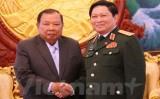Lãnh đạo Lào đánh giá cao sự hợp tác giữa Bộ quốc phòng Việt-Lào