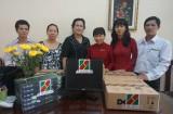 Agribank chi nhánh tỉnh Long An: Tặng máy tính cho Trường THCS Thống Nhất