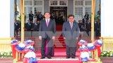 Chủ tịch nước Trần Đại Quang hội đàm với Chủ tịch nước Lào