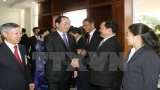 Chủ tịch nước thăm Sứ quán và gặp cộng đồng người Việt ở Lào