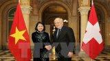 Phó Chủ tịch nước Đặng Thị Ngọc Thịnh thăm làm việc tại Thụy Sĩ