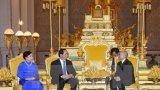 Chủ tịch nước Trần Đại Quang hội kiến Quốc vương Campuchia