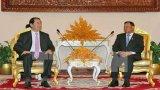 Chủ tịch nước gặp lãnh đạo Thượng viện, Quốc hội Campuchia