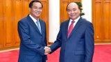Thủ tướng Nguyễn Xuân Phúc tiếp Bộ trưởng Bộ Kế hoạch và Đầu tư Lào
