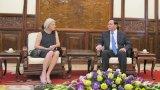 Chủ tịch nước tiếp Đại sứ Đan Mạch Charlotte Laur Sen