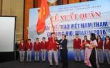 Đoàn thể thao Việt Nam xuất quân dự Olympic Rio 2016
